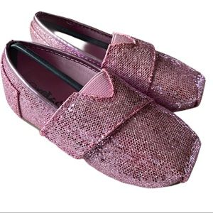 Glitter pink kids shoes - Size 8